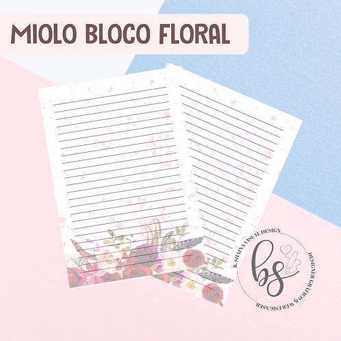 Miolo Bloco Floral Vermelho