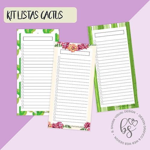 Kit Lista Cactos - Miolo Digital