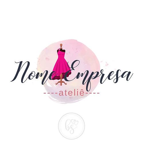 Logotipo Moda Ateliê Pré-Criado