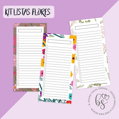 Kit Bloco Lista Flores
