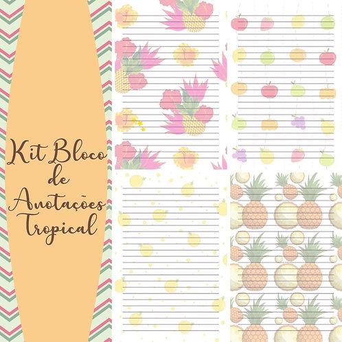 Kit Bloco Anotações Tropical