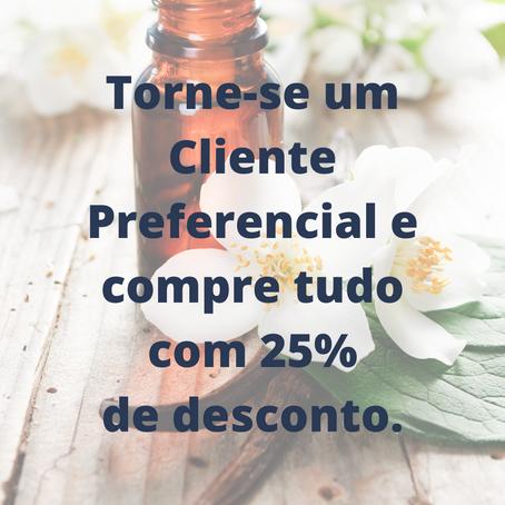 Torne-se um Cliente Preferencial e compre tudo com 25% de desconto.