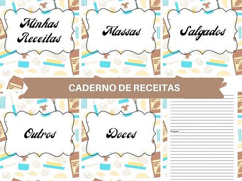 Miolo Digital Caderno de Receitas