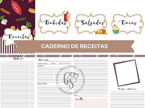 Miolo Digital Caderno de Receitas   Marron