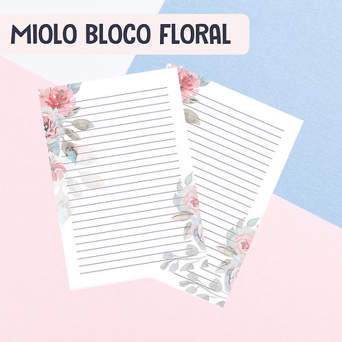 Miolo Bloco Floral