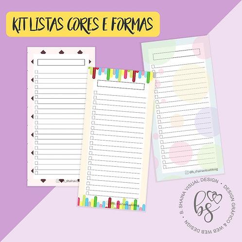 Kit Bloco Lista Cores e Formas