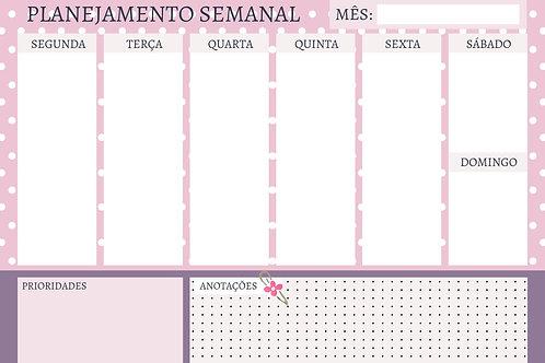 Miolo Planner Roxo Dots A4