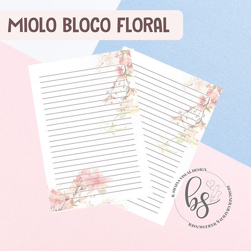 Miolo Bloco Floral Rose