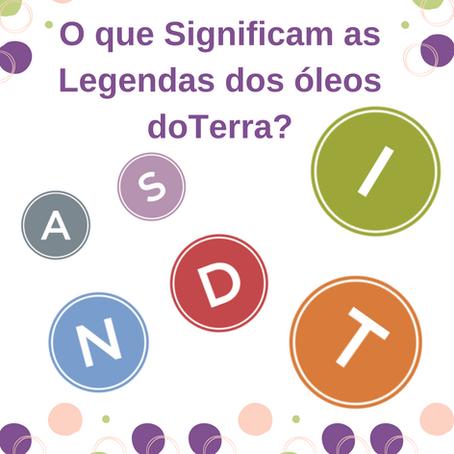 O que Significam as Legendas dos óleos doTerra?