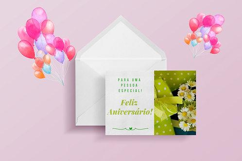 Cartão de Aniversário Flores