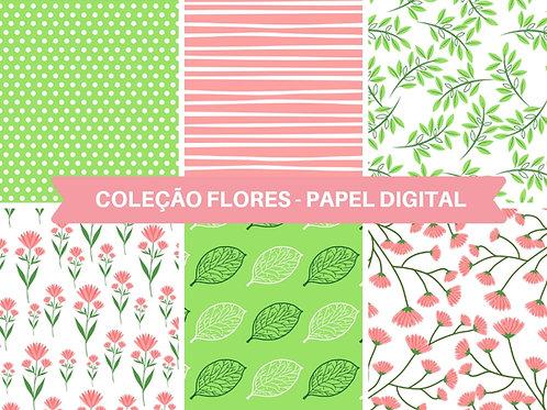Papel Digital Flores