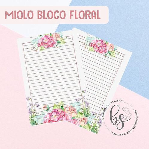 Miolo Bloco Floral Moldura