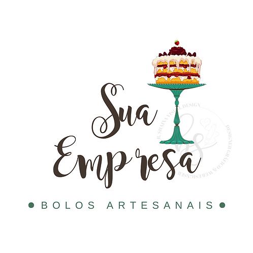 Logotipo Confeitaria Pré-Criado