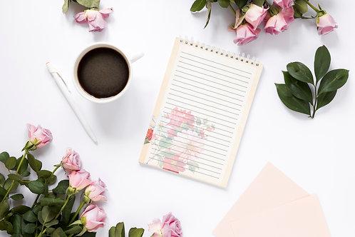 Bloco de Anotações Floral Elegante