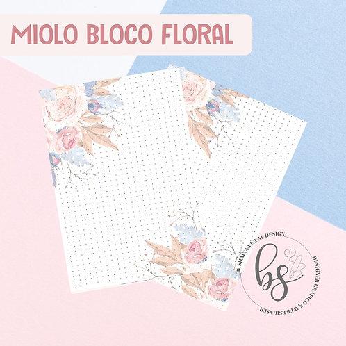 Miolo Bloco Floral Pontilhado