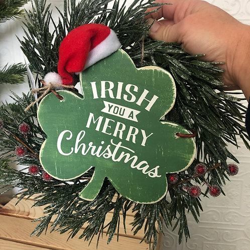 Irish You a Merry Christmas Mini Wreath