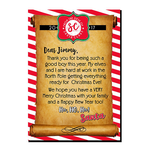 Santa Letter (personalized)