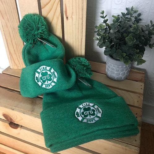 CFD Green Pom Hat