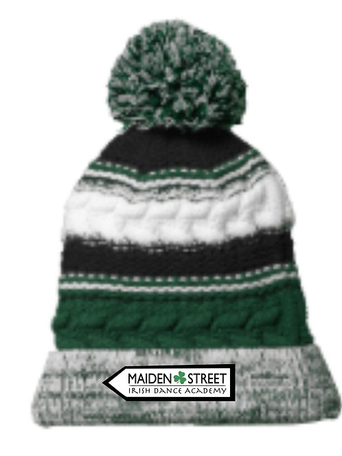 MSA Striped Pom Hat