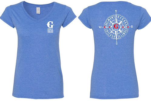 Ladies V-neck Heather Shirts