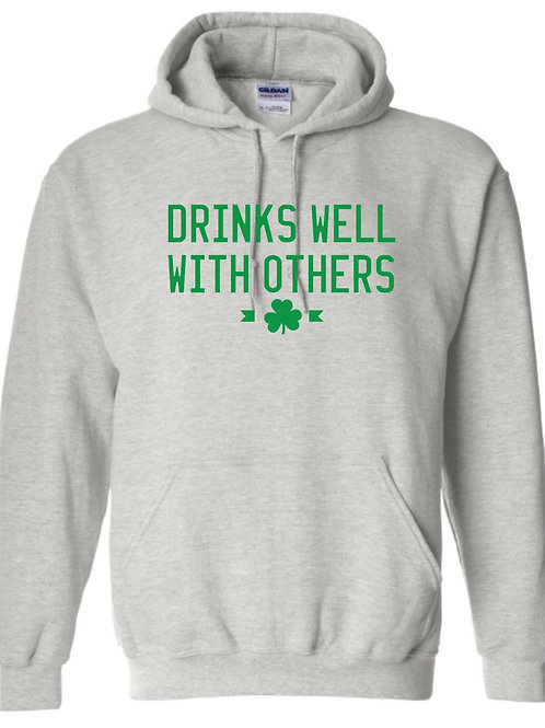 Hoodie - Drinks Well With Others