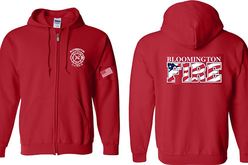 Duty RED Zip-Up Hoodie