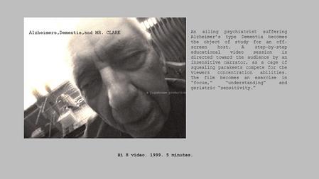 Alzheimer's Dementia, Mr. CLARK