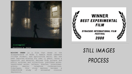 MISSING GREEN (Best Experimental Film 2008)