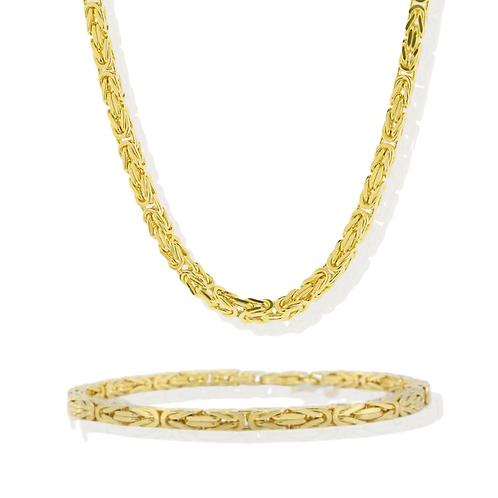 "24"" Kingslink Chain & Bracelet Set"