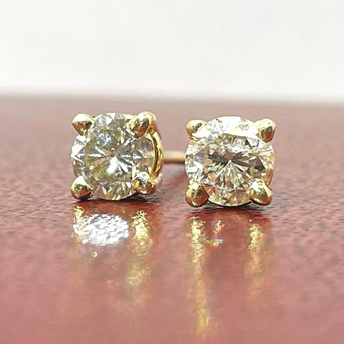 Diamond Solitaire Studs 0.75 carat