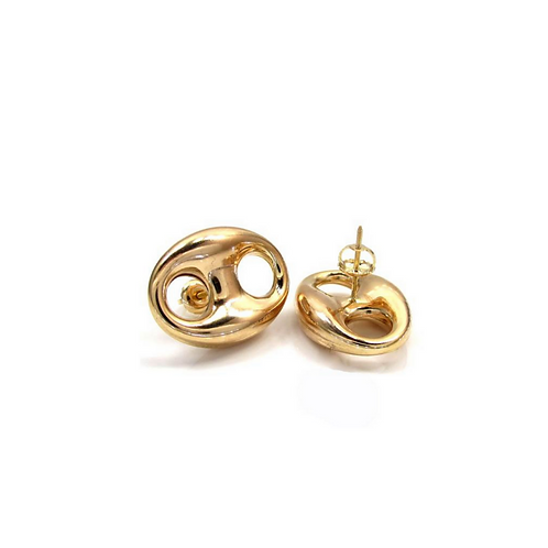 Puff Earring Studs Multiple Sizes