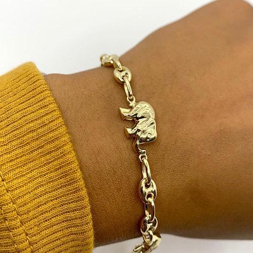 Elephant & Puff Link Bracelet
