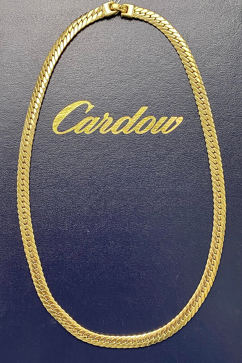 14K Gold Flat Cuban Necklace