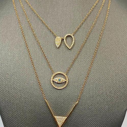 Dainty Diamond 14k Rose Gold Necklaces
