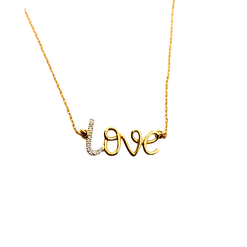 14k Diamond Love Necklace