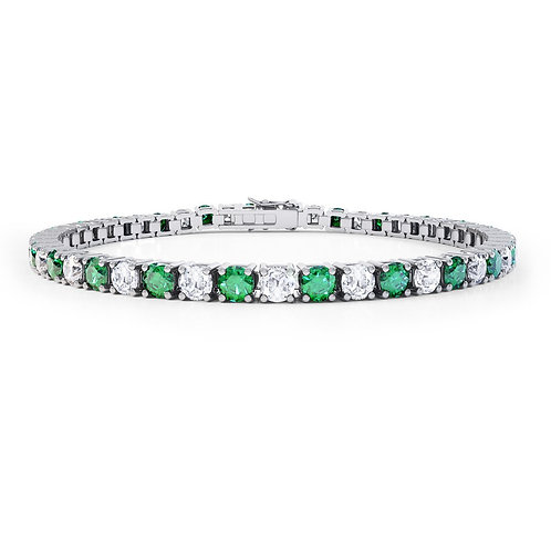 Simulated Emerald Tennis Bracelet
