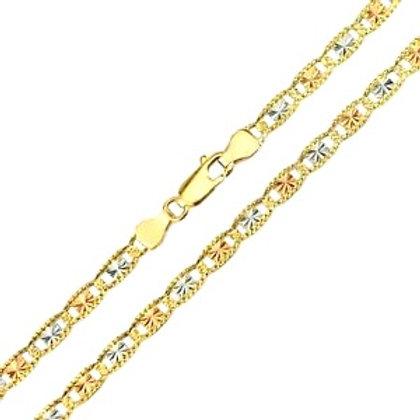 14k Tricolor Valentin Chain