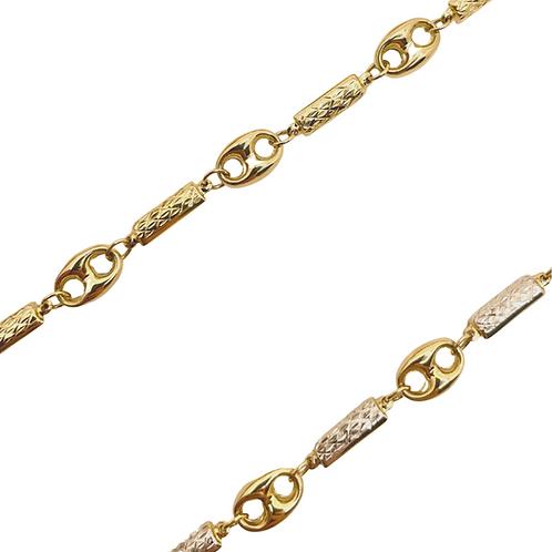 Bar Puff Link Bracelet & Anklets