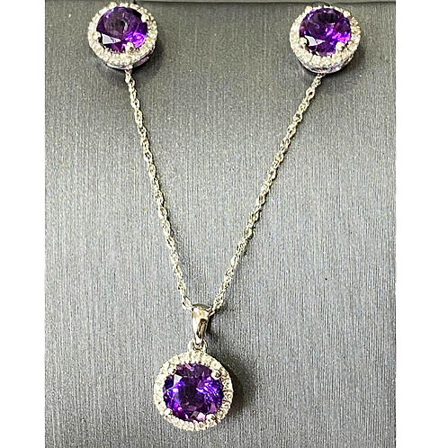 Diamond and Amethyst Set