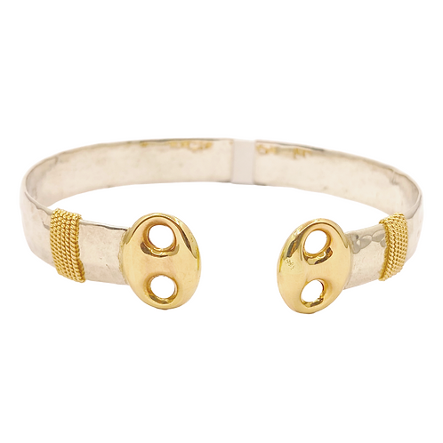 10mm Cardow Cuff with Gold Link