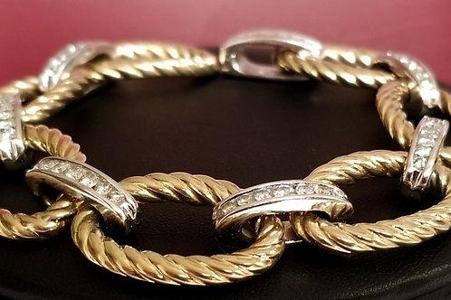 14K Diamond Gold Bracelet