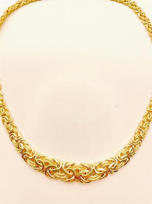 Textured 10mm Byzantine Necklace
