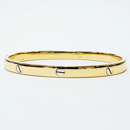 "14k Gold Bangle ""cartier style"""