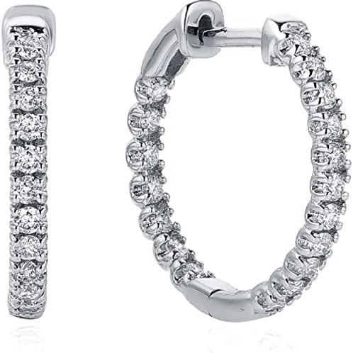 Inside Out Hoops 1 carat