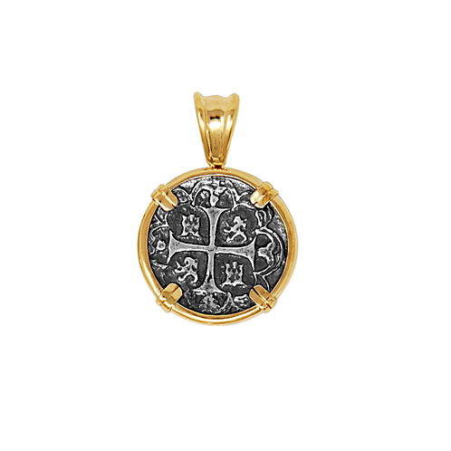 Atocha Coin in 14k Pendant