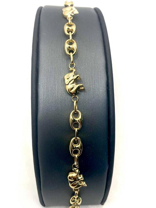 Puff Link Elephant Bracelet