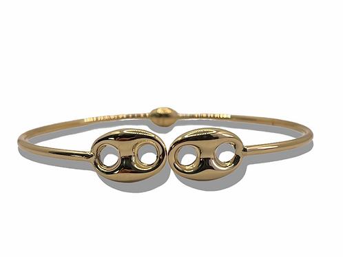 10mm Puff Gold bracelet