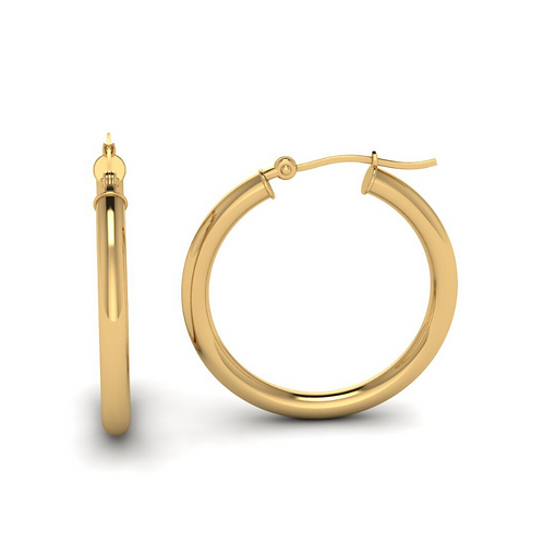 Gold Hoops Earings