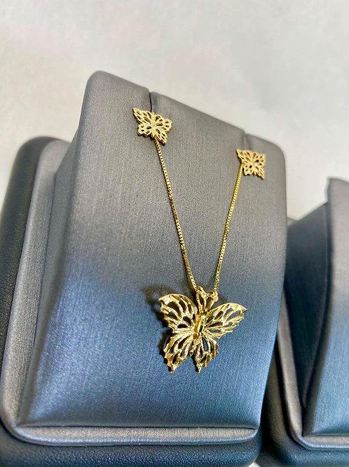 14K Gold Butterfly Set