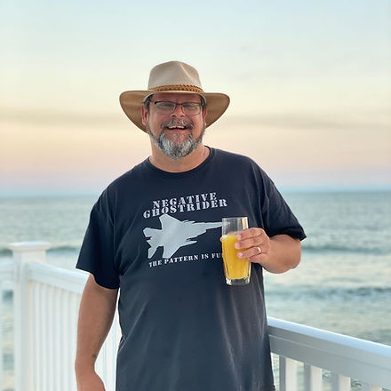 Mike Stover at the Beach, October 2020